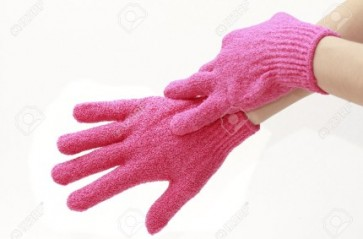 Pink Exfoliating Gloves - Use prior to application of sugar wax.