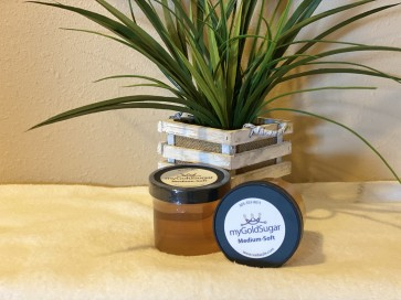 18 oz MEDIUM-SOFT Sugaring Paste/Wax (fine hair, medium cool to cool parts of body, facial hair, peach fuzz, chin)