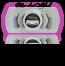 Style #2C - BLACK Extra Short 10mm length / 3/4 2 magnet lash